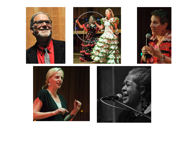 Photos of Jack Manno, Hoola Hoops Sistahs, Mara Sapon-Shevin, Danan Tsan, and Marcia Hagan